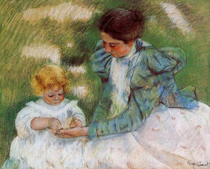 Мэри Кассат -  Cassatt Mary Mother Playing with Her Child   -