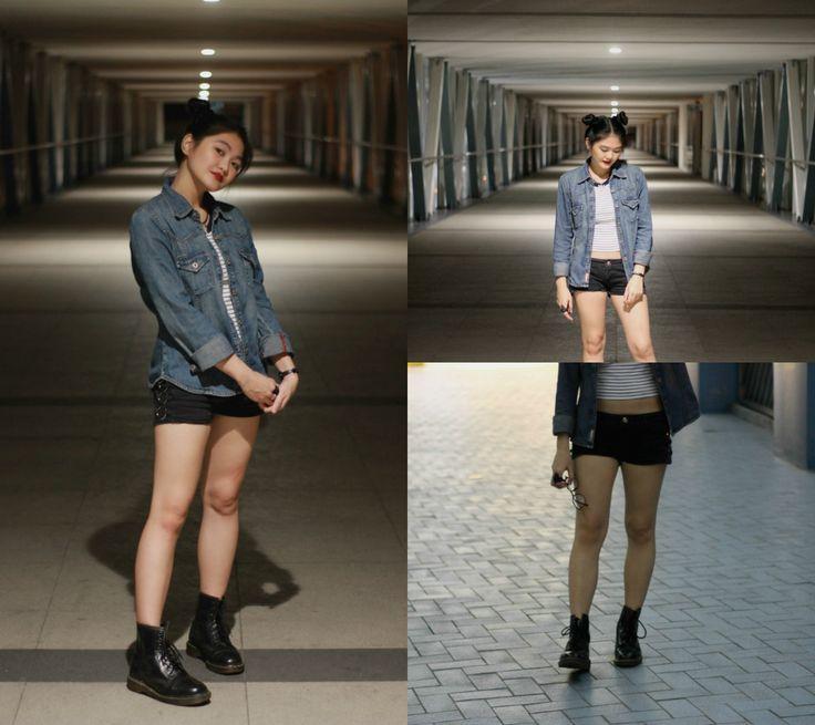 Jacket: Esprit, Top: Hu0026M, Shorts: Terranova, Boots: Dr.