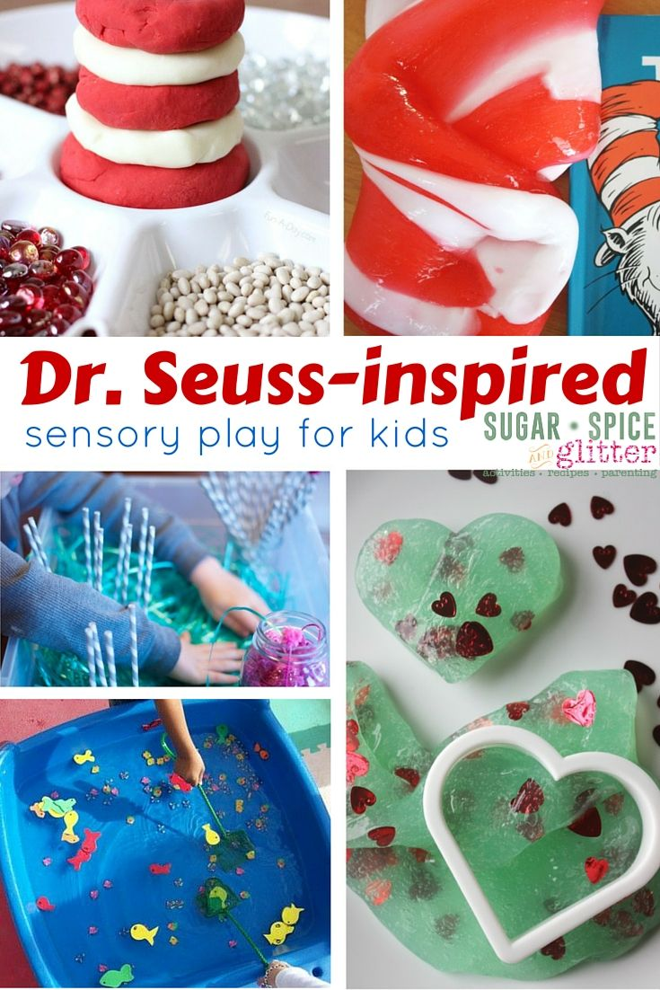Dr Seuss Sensory Play Ideas - inspired by Dr.Seuss books, great as follow up activities