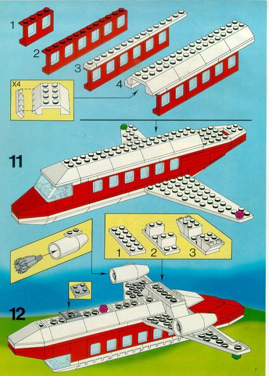 lego city airplane instructions