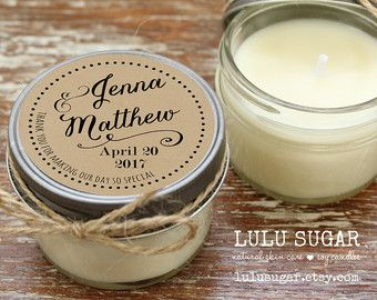 Set of 12 4 oz Soy Candle Wedding Favors Wedding by lulusugar