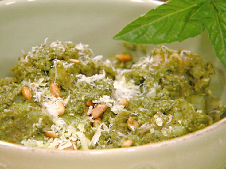 Pesto Crushed Potatoes recipe from Michael Chiarello via Food Network