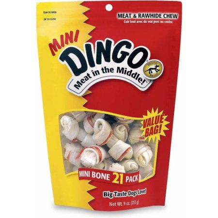 Mini Dingo Meat in the Middle Treat for Dogs - 21 CT, Multicolor