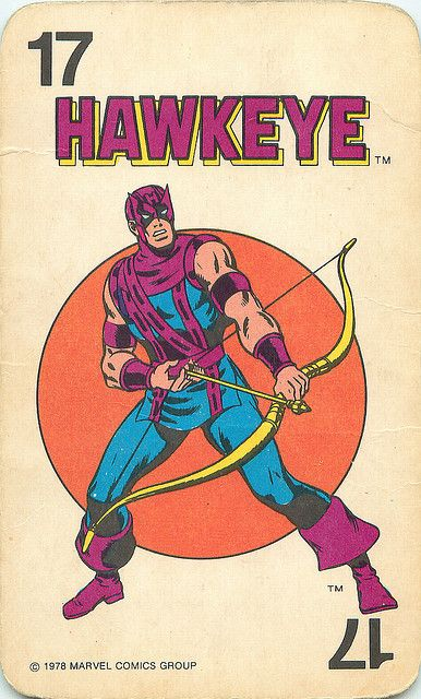 Marvel Comics Superheroes Card Game | #Hawkeye