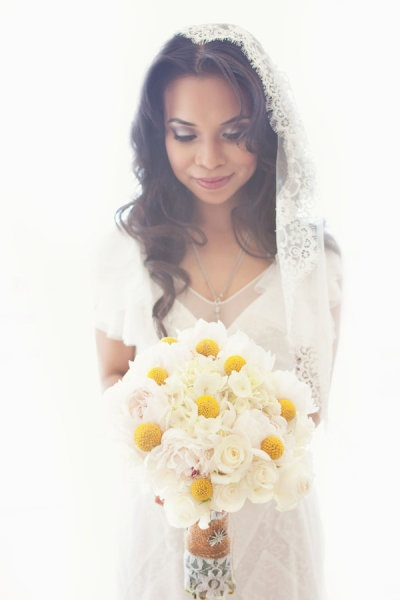 Love this bouquet for a yellow themed wedding