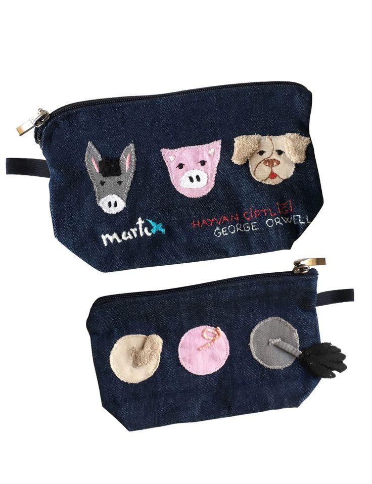 Çanta - Hayvan Çiftliği / Kalem Kutu / makyaj çantası