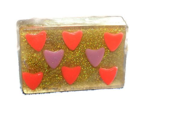 Valentine gift soap Gift soap with hearts by ShopGreenJoy on Etsy