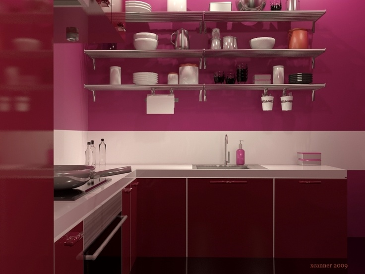 Finest Modern Pink U Red Ikea Faktum Kitchen With Ikea Faktum
