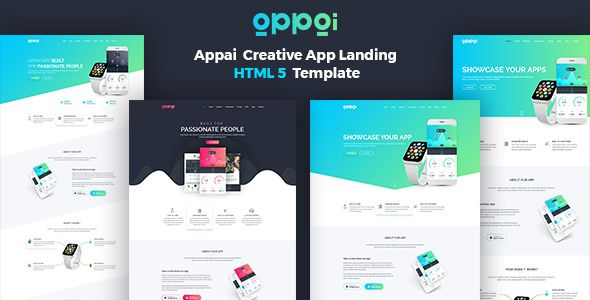 Appai V App Landing Page Blogger Template  Web Graphics