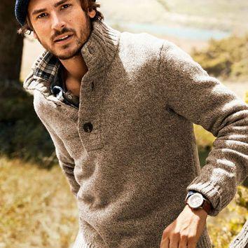 MADE TO ORDER men's Turtleneck Sweater v-neck men crewneck hand knitted sweater cardigan pullover men clothing handmade men knitting cabled
