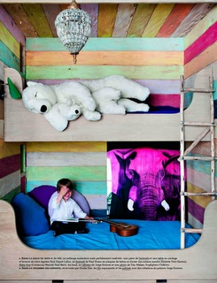"When I first saw this my thoughts were, ""Woah! How did a polar bear end up sleeping in a bunk bed!?"" It honestly took me a minute to realize that the bear is fake, and that there is a kid in the picture. That bear still creeps me out though."