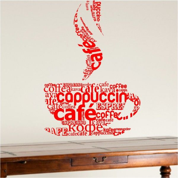 3d effect coffee shop wall design design wallsticker