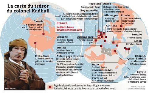 Les milliards de Mouammar Kadhafi, disparus dans les banques occidentales