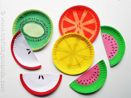 DIY Fruity Paper Plates