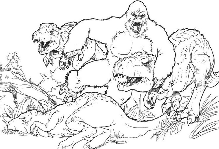 Coloring Page King Kong Holiday Pages Drum Free Printable