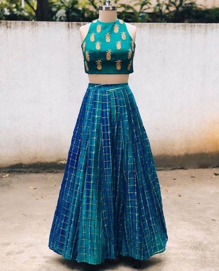 c180500135fa75 Beautiful Silk Lehenga with Hand Embroidered blouse.