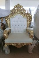 Source Royal luxury king chair Portable Wood chairs with cushion classica style leather surface on m.alibaba.com