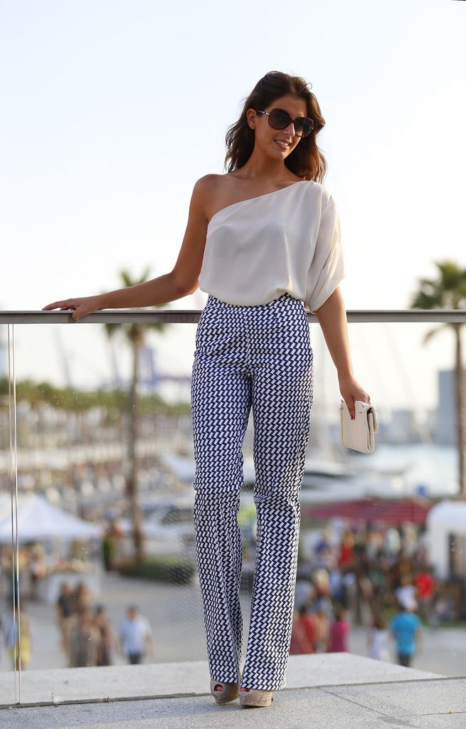 Adolfo Dominguez top, Silvia Navarro pants..i love funny pants shirt cute also