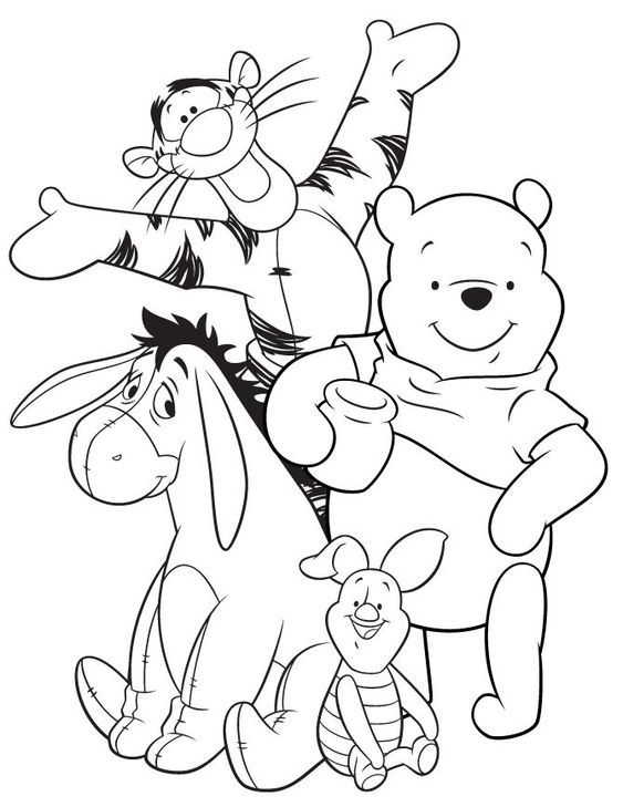 Winnie the Pooh Coloring Pages | coloring.rocks!