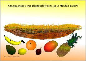 Handa's Surprise playdough mats (SB3919) - SparkleBox