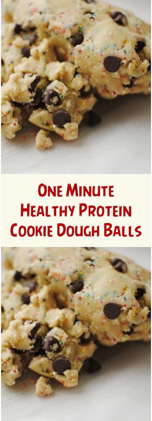 One Minute Healthy Protein Cookie Dough Balls #proteincookies