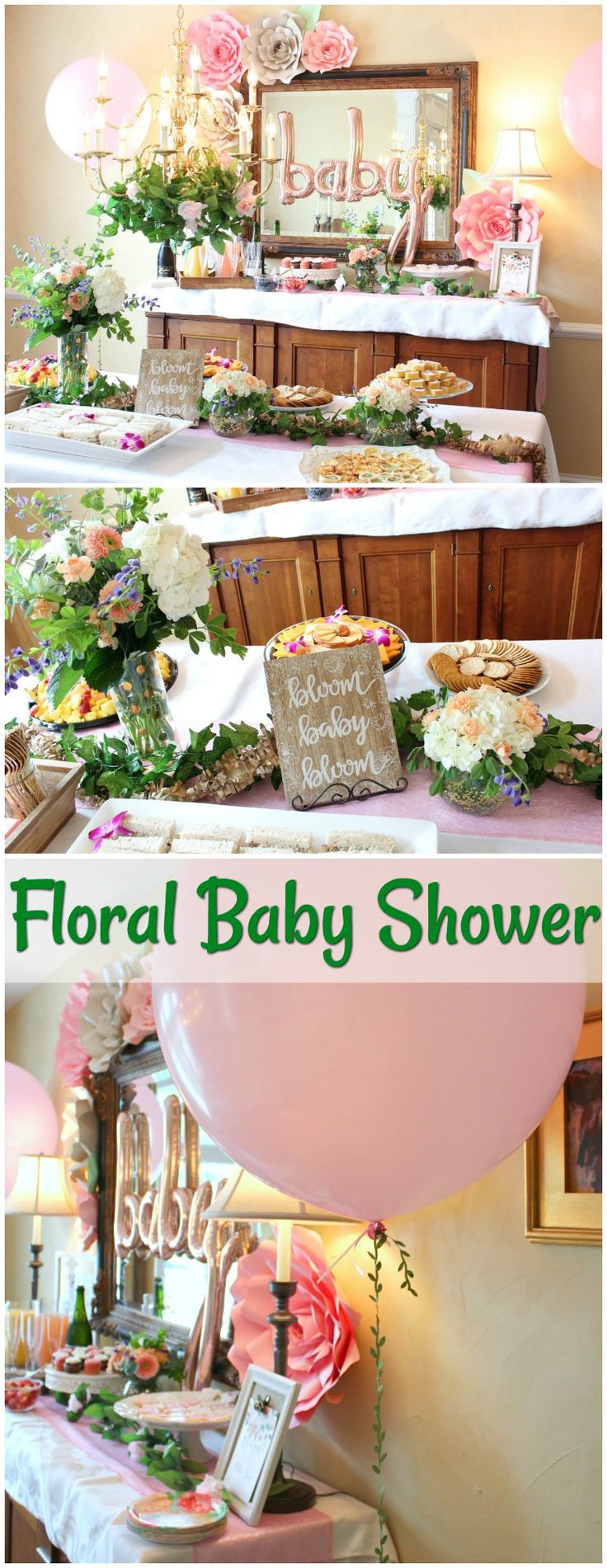 Floral and Flower Crown Baby Shower Ideas