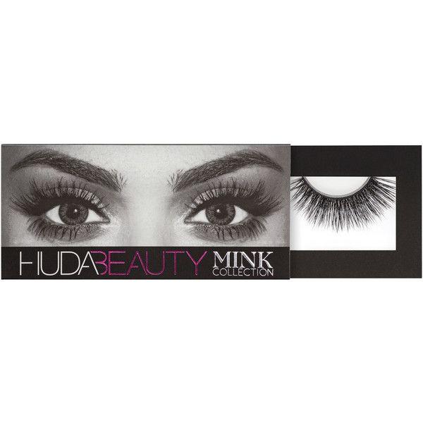 Huda Beauty Mink Lash ($52) ❤ liked on Polyvore featuring beauty products, makeup, eye makeup and false eyelashes