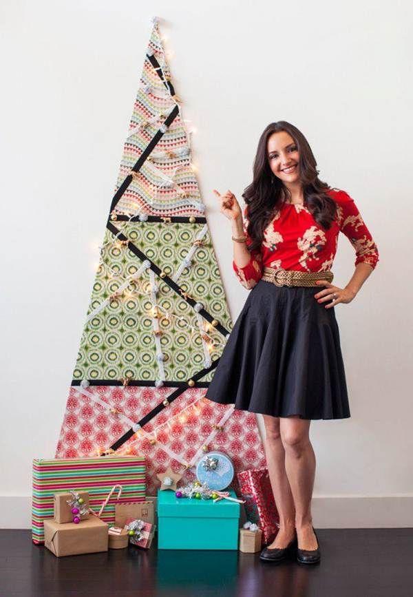 Árbol de Navidad hecho con telas