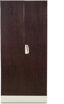 Godrej Interio Slimline 2s Metal Almirah Finish Color Dark Wood