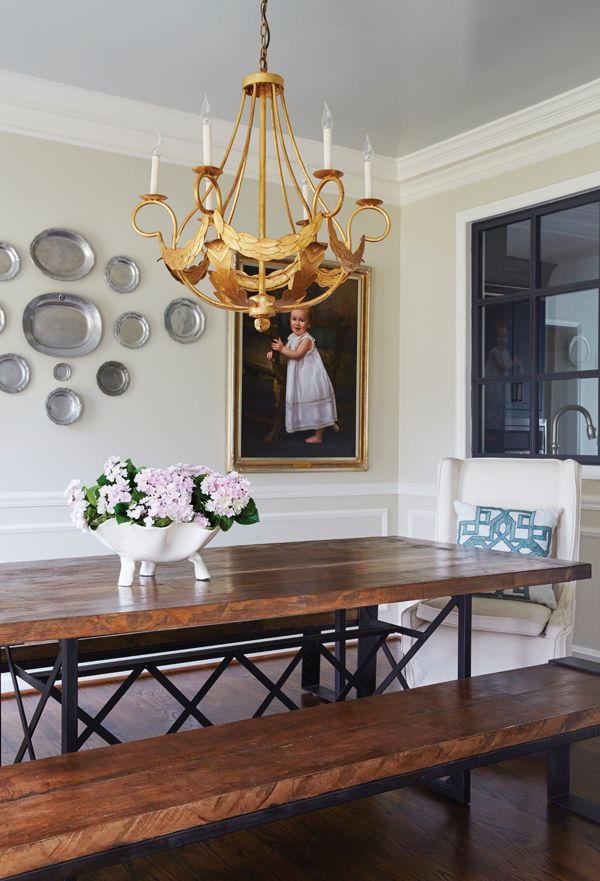 A Casual Dining Area By Birmingham Interior Designer Marianne Strong