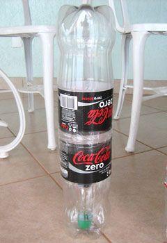 Pufe de garrafa pet, como montar a estrutura