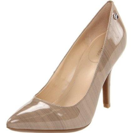 Calvin Klein Women`s Natalie Streak Pump,Taupe Patent, US $98.00