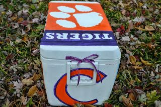 Clemson Girl: Clemson hand-painted coolers