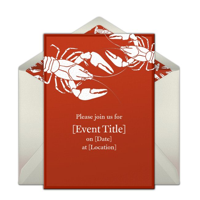 Lobsters Online Invitation from Punchbowl.com