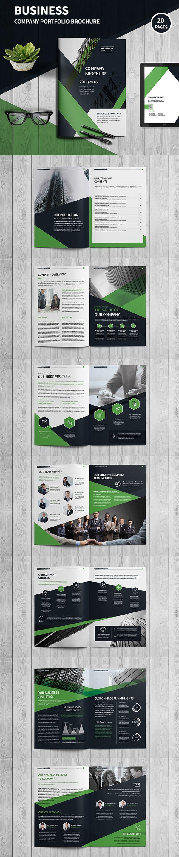 Corporate Company Profile Brochure #annualreport #booklet #brochuredesign #brochuretemplates #fashioncatalog #portfolio