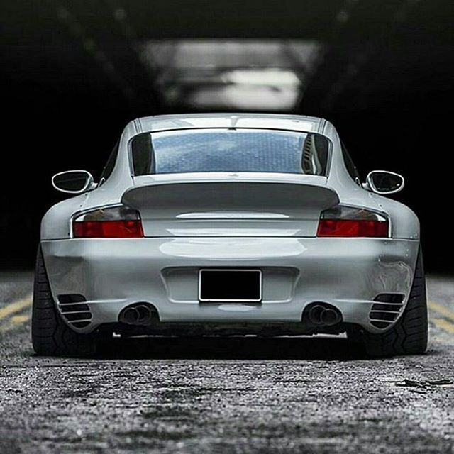 Porsche 996 Turbo with wide hips!  Picture Credit: @porschekwt | #911LegendsNeverDie