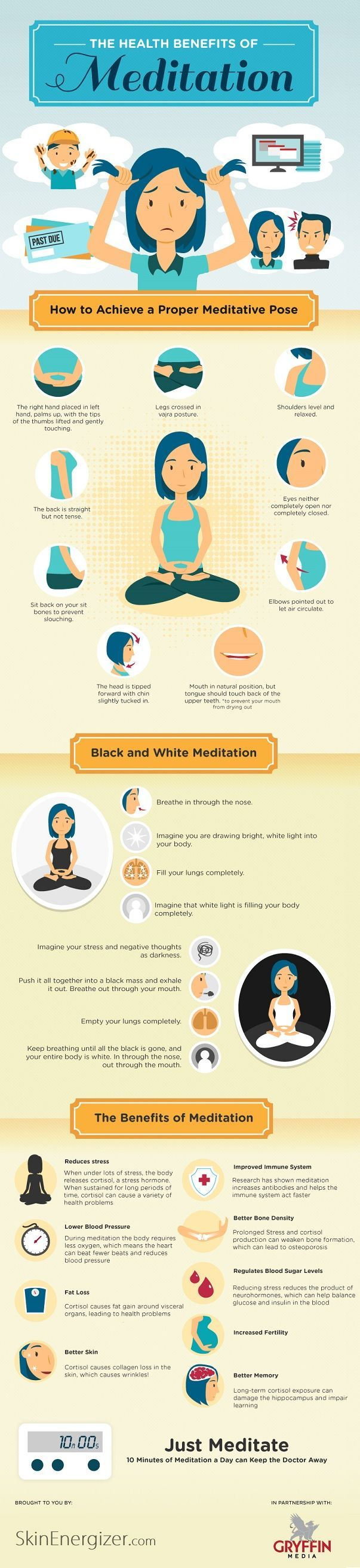 Take a breather. The Health Benefits of Meditation.