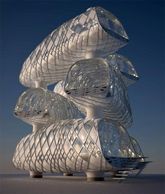 Modern futuristic architecture exterior [Futuristic Architecture: http://futuristicnews.com/category/future-architecture/]