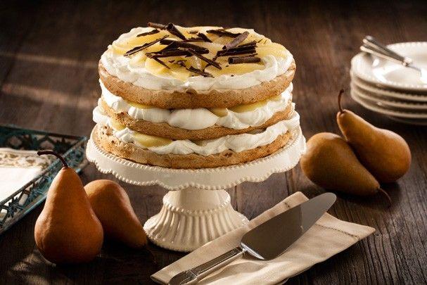 Pavlova de chocolate e peras (Foto: Divulgação)