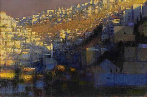 Andrew Gifford, Silwan Valley 2 119.4 (H) × 180.3 (W) cm on ArtStack #andrew-gifford #art