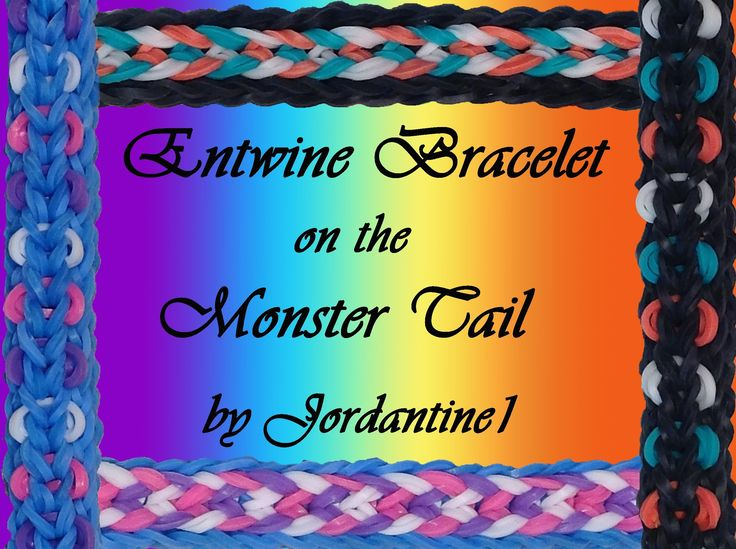 New Entwine Bracelet - Reversible- Monster Tail - Rainbow Loom tutorial by Jordantine1.