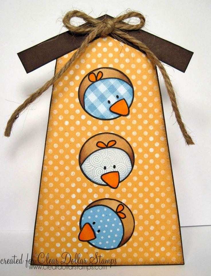 Bird House shaped card - bjl