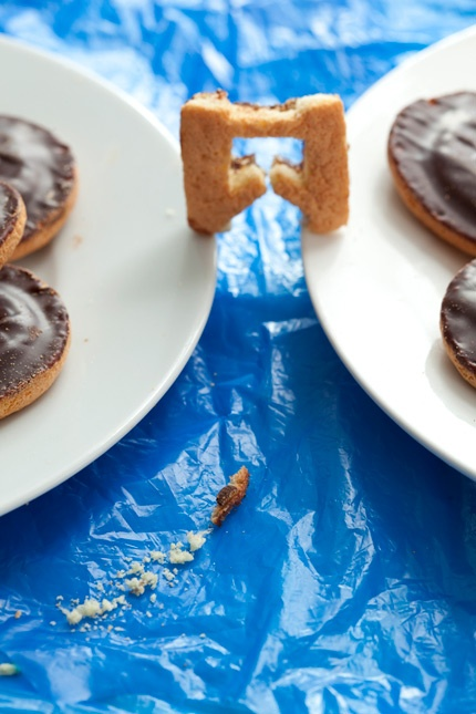 Very English obsession to make the UK out of Jaffa Cakes for the Olympics and Jubilee year.