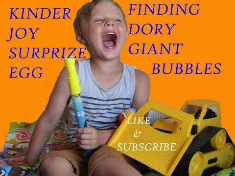 KINDER JOY SURPRIZE EGG, DISNEY SURPRIZE,GIANT FINDING DORY SURPRIZE & more... - YouTube