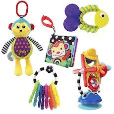 Sassy Inspiring the Baby's Senses Toys Gift Set - 5 Piece