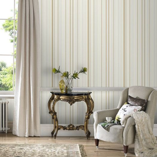 Graham & Brown Illusions Maestro 33' x 20'' Stripes Embossed Wallpaper | AllModern