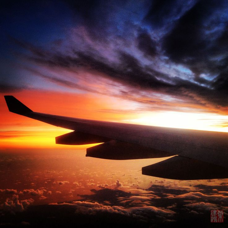 over the sunset - fly from Ngurah Rai International Airport