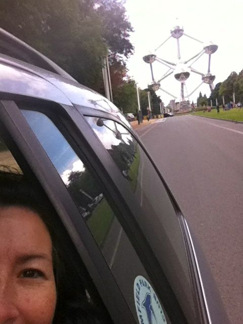 Leaving  The Atomium Brussels. Photo by Kelly Harrington
