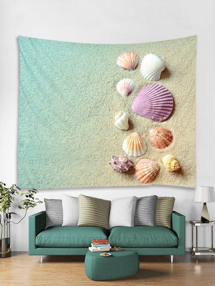 Beach Shells Print Tapestry Wall Hanging Art Decoration Tapestry