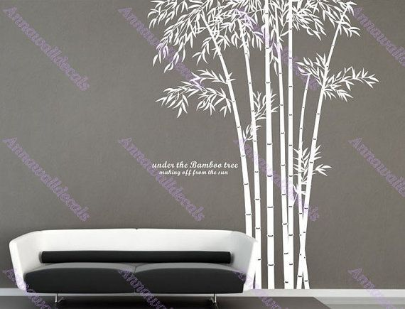 Best Autocollants Bambou Bamboo Stickers Stencils Et - Vinyl wall decals bamboo